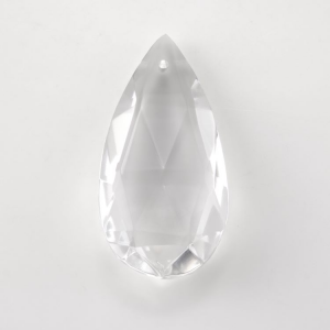 Mandorla goccia h70 mm cristallo Boemia. Pendente originale per lampadari antichi.
