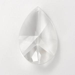 Mandorla sfaccettata in cristallo di Boemia h100 mm. Per restauro lampadari antichi e vintage.