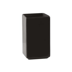 H&H Bicchiere Bagno Ceramica Nero Quadro Arredo Bagno E Accessori