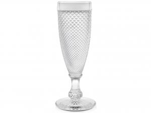 H&H Set 6 Calice In Vetro Diamantato Flute 16 Cl arredo tavola