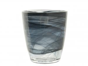 H&H Set 6 Bicchiere Vetro Alabastro Nero Cl23 arredo tavola