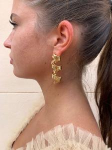 Orecchini ad elica oro Francesca Bianchi Design