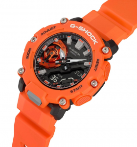 Casio G-Shock, orologio digitale multifunzione arancione