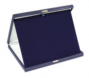 Porta targa in mdf blu