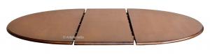 Tavolo bicolore nero opaco e ciliegio diametro 120 cm