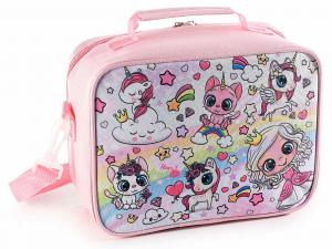 Lunch merenda box borsa frigo con tasca interna Unicorno