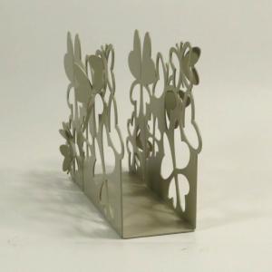 Porta tovaglioli da tavolo in metallo con farfalle
