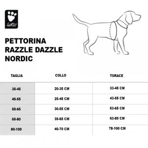 PETTORINA RAZZLE DAZZLE NORDIC 55-65 CM