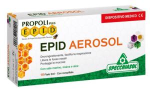 PROPOLI PLUS EPID AEROSOL - DISPOSITIVO MEDICO IN FIALE A BASE DI SALE MARINO, MALVA E ALOE