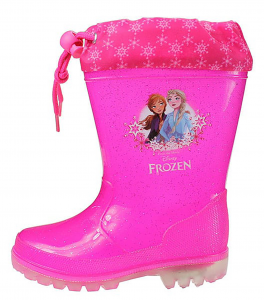 Stivali pioggia Frozen con luci dal 24 al 32