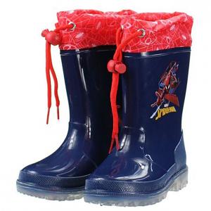 Stivali pioggia Spiderman con luci numero dal 24 al 32