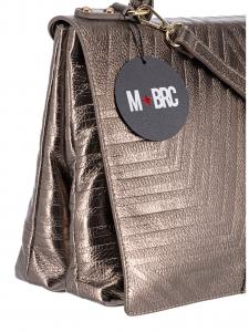 M BRC Borsa a Mano Laminata Bronzo