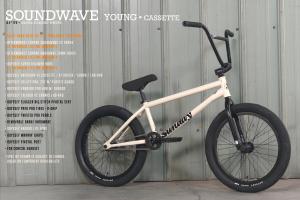 Sunday Soundwave Young Cassette 2022 Bici Bmx Completa | White LHD/RHD
