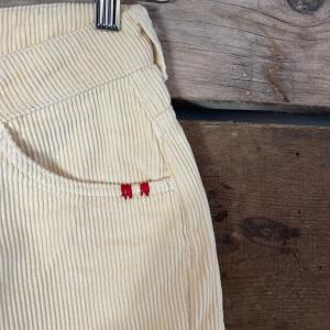 Pantalone Amish Supllies Donna Rebecca Velluto A Coste Panna