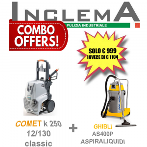 COMET K 250 12/130 M Classic più AS400P Ghibli Aspirapolvere e Aspiraliquidi