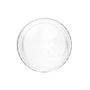 Coperchi per coppette biodegradabili trasparenti in PLA 80-100ml
