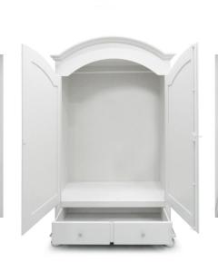 Armadio Curvo Laccato Bianco 2 ante+2 cassetti