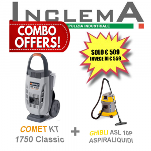 COMET KT 1750 Classic idropulitricie acqua fredda + ASL10P GHIBLI aspirapolvere & aspiraliquidi