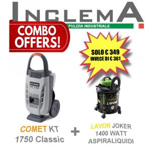 COMET KT 1750 Classic idropulitricie acqua fredda + LAVOR JOKER 1400 WATT aspirapolvere & aspiraliquidi