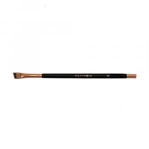 Pennello N.2 Professionale Con Calamita per colorazione sopracciglia con hennè e tinte, angolato, sottile. MAXYMOVA