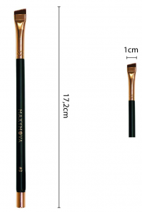 Pennello N.3 Professionale Con Calamita per colorazione sopracciglia con hennè e tinte, angolato, sottile. MAXYMOVA