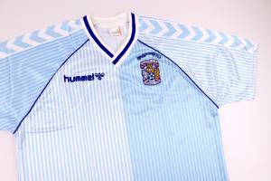 1987-88 Coventry FA Cup Winners Maglia Home XL *Nuova