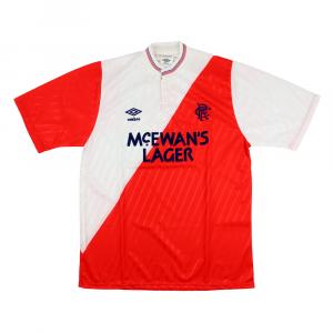 1987-90 Rangers Maglia Away M *Nuova