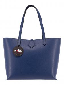 M BRC Borsa Shopping in Pelle Blu