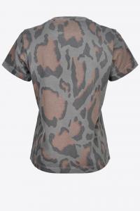 T-shirt Ritrovare maculata stampa cuore Pinko