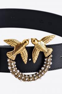 Cintura Love Jewel Hips Simply Belt H4 nera Pinko