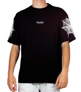 T-Shirt Phobia Archive Ragnatela Black