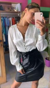 Camicia in raso maculato con bottoni 3 Colori