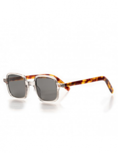 Rectangular sunglasses with grey polarised lenses