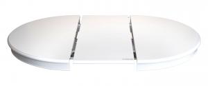 Mesa redonda con extensiones blanca estilo Luis Felipe 100 cm