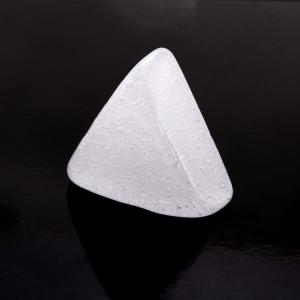 Blocco mini mattone in vetro di forma triangolare seta