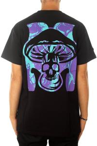 T-Shirt Mushroom Black Purple