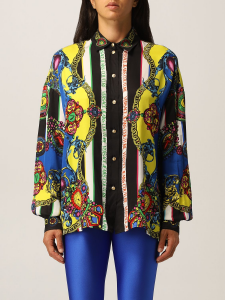 Camicia stampa tartan baroque  di Versace Jeans Couture