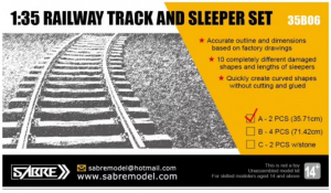 Railway Track & Sleeper Set