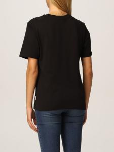 T-shirt nera con logo davanti Chiara Ferragni