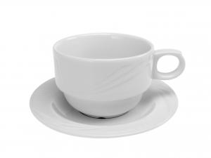 TAZZA CAFFE' CON PIATTO IN PORCELLANA ARCADIA BB0,08