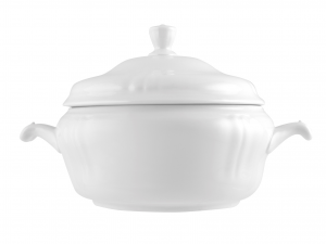 Zuppiera In Porcellana, 3 L, Bianco