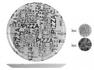 PIATTO PIZZA DEC BLACK/WHITE CM33