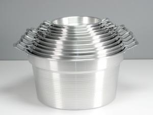 Caldaia In Alluminio Pesante Spazzolata Cm44 21l
