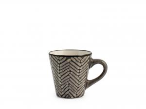 TAZZA DA CAFFE' IN STONEWARE ETHNIC ASS S/P CC100