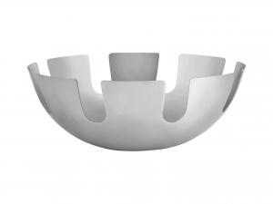 H&h Centrotavola Inox, Bordo Forato, 23.5cm