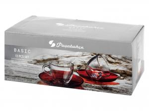 Confezione 6 Tazzine Caffe' Vetro P/ross Cl09-98171
