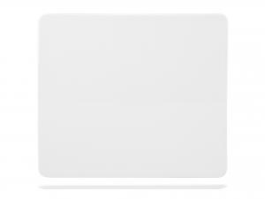 Piatto Rettangolare In Porcellana, 23x20 Cm, Bianco
