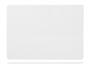 Piatto Rettangolare In Porcellana, 36x24 Cm, Bianco