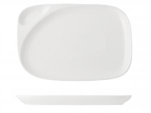 Piatto Rettangolare In Porcellana, 31,5x21,5 Cm, Bianco