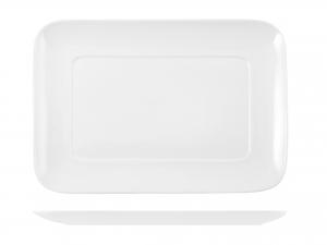 Piatto Rettangolare In Porcellana, 27x19 Cm, Bianco